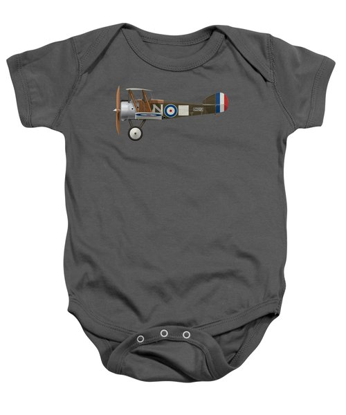 Sopwith Camel - B6313 March 1918 - Side Profile View Baby Onesie by Ed Jackson