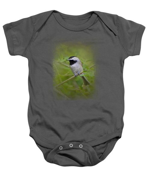 Spring Chickadee Baby Onesie by Jai Johnson