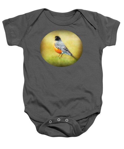 Spring Robin Baby Onesie by Anita Faye