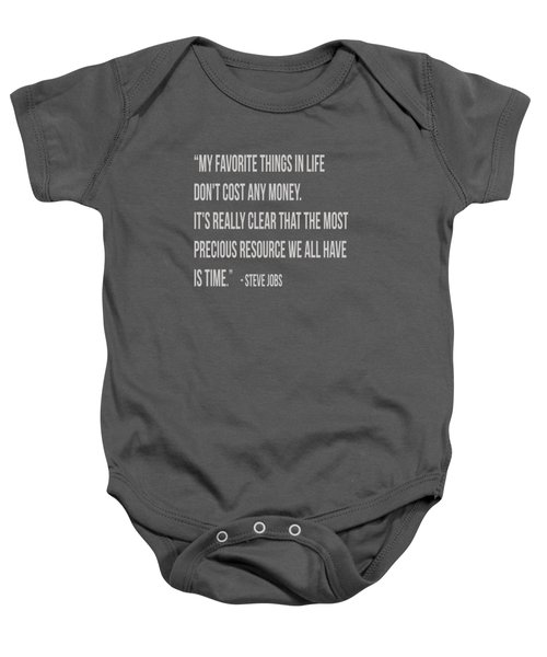 Steve Jobs Time Quote Tee Baby Onesie by Edward Fielding