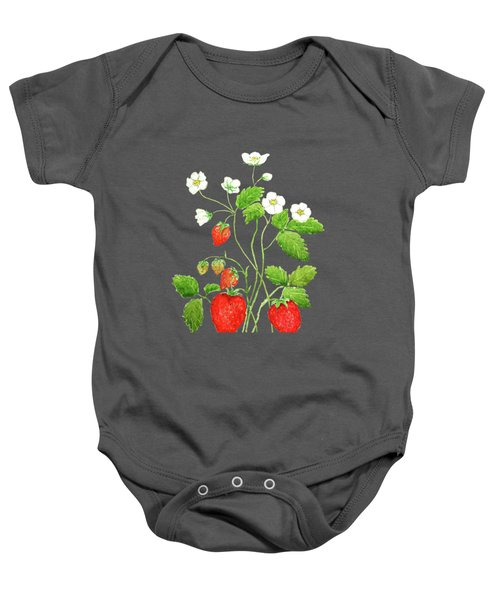 Strawberry  Baby Onesie by Color Color