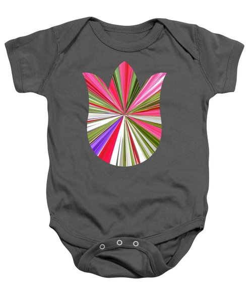 Striped Tulip Baby Onesie by Marian Bell