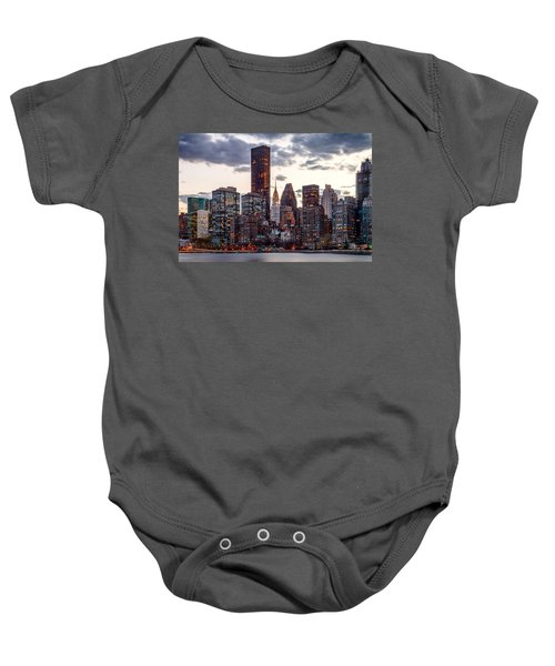 Surrounded By The City Baby Onesie by Az Jackson