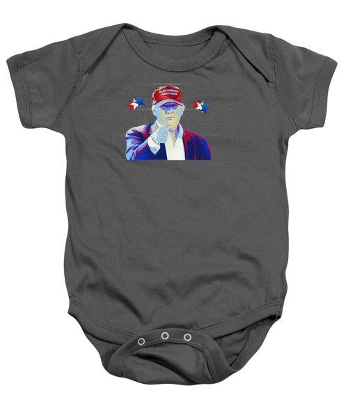 T R U M P Donald Trump Baby Onesie by Mr Freedom