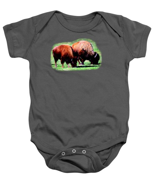 Texas Bison Baby Onesie by Linda Phelps