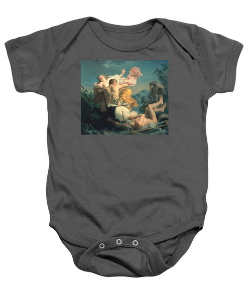 The Abduction Of Deianeira By The Centaur Nessus Baby Onesie by Louis Jean Francois Lagrenee