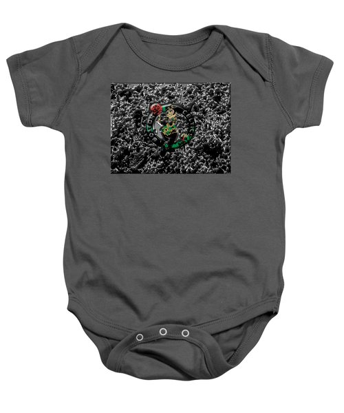 The Boston Celtics 1a Baby Onesie by Brian Reaves