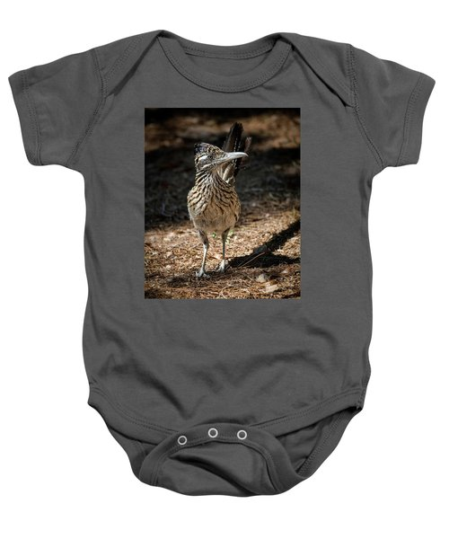 The Greater Roadrunner Walk  Baby Onesie by Saija Lehtonen