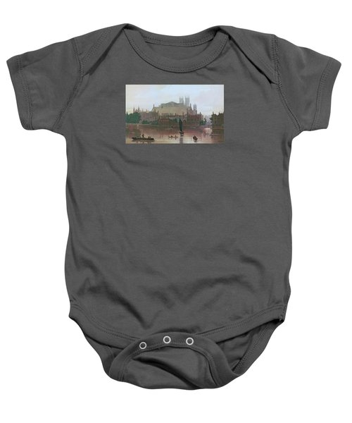 The Houses Of Parliament Baby Onesie by George Fennel Robson