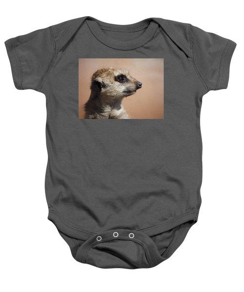 The Meerkat Da Baby Onesie by Ernie Echols