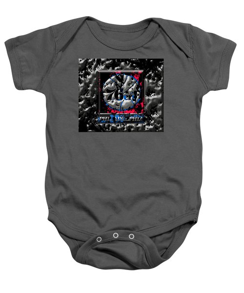 The Philadelphia 76ers Baby Onesie by Brian Reaves