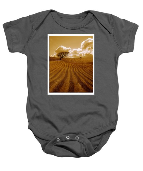 The Ploughed Field Baby Onesie by Mal Bray