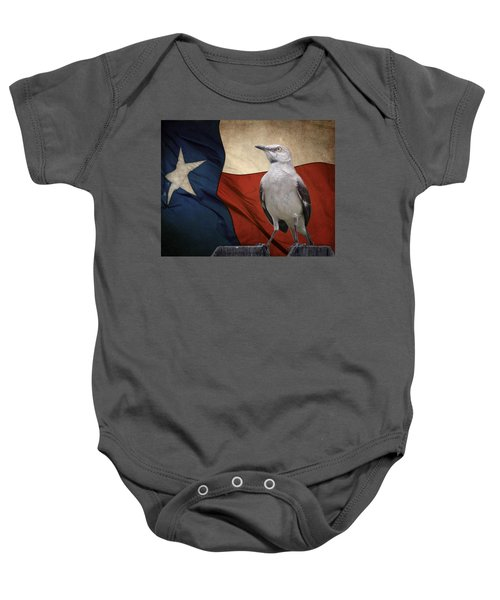 The State Bird Of Texas Baby Onesie by David and Carol Kelly