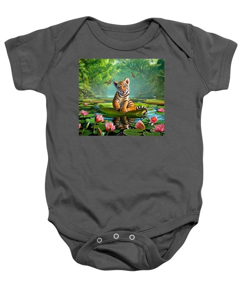 Tiger Lily Baby Onesie by Jerry LoFaro