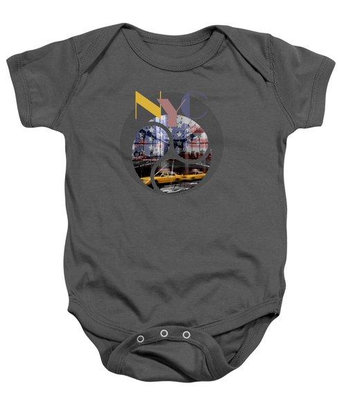 Trendy Design New York City Geometric Mix No 2 Baby Onesie by Melanie Viola