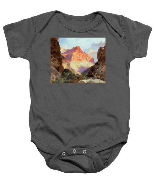 Under The Red Wall Baby Onesie by Thomas Moran