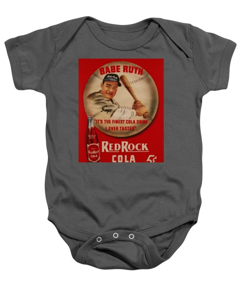 Vintage Babe Ruth Commercial Art Baby Onesie by Pd
