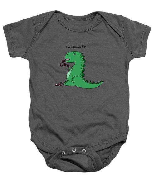 Winosaurus Rex Baby Onesie by Tamera Dion