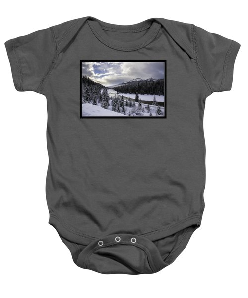 Winter In The Rockies Baby Onesie by J and j Imagery