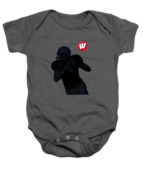 Wisconsin Football Baby Onesie by David Dehner