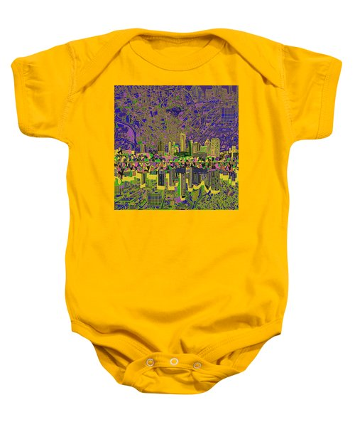 Austin Texas Skyline Baby Onesie by Bekim Art