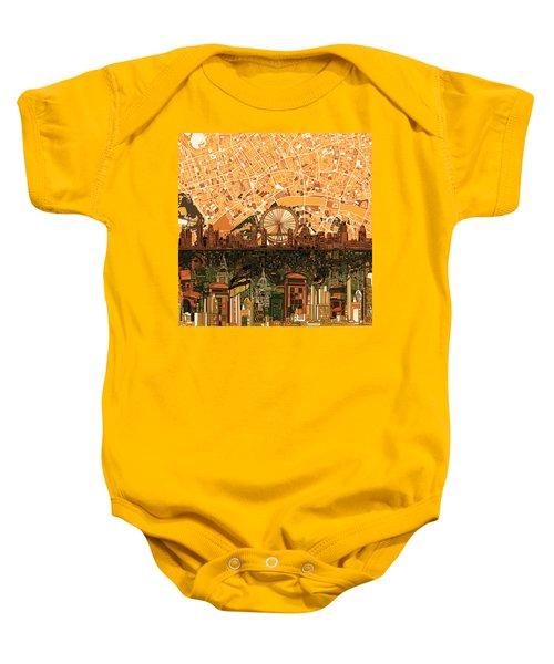 London Skyline Abstract 7 Baby Onesie by Bekim Art