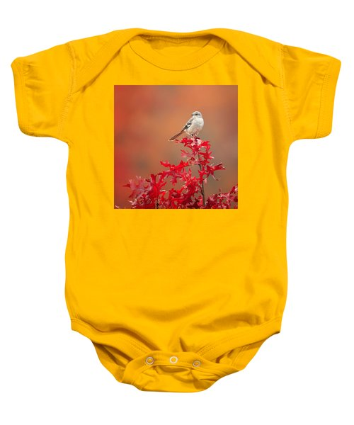 Mockingbird Autumn Square Baby Onesie by Bill Wakeley
