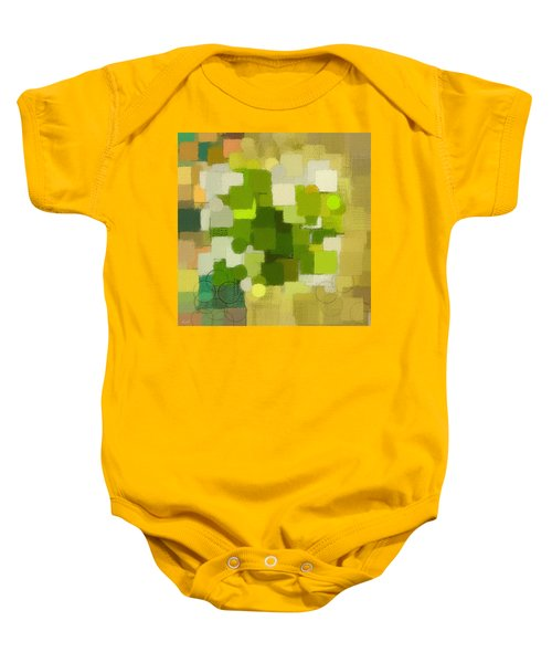 Modern Abstract Xxxv Baby Onesie by Lourry Legarde