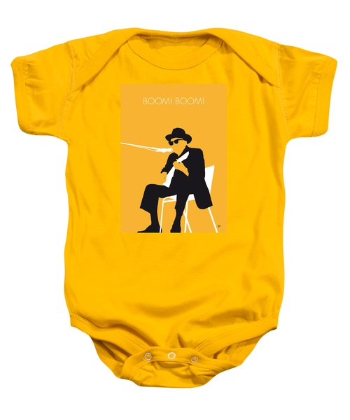 No054 My Johnny Lee Hooker Minimal Music Poster Baby Onesie by Chungkong Art