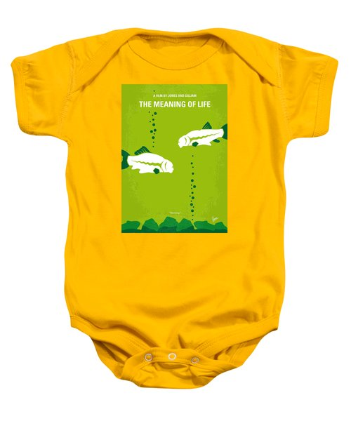 No226 My The Meaning Of Life Minimal Movie Poster Baby Onesie by Chungkong Art