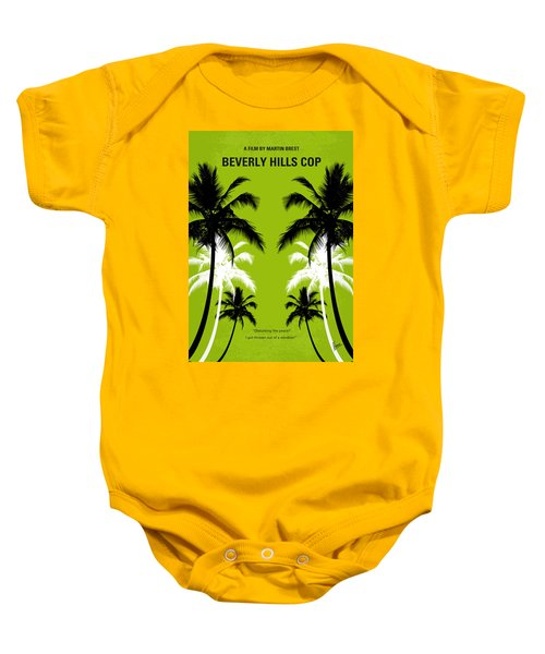 No294 My Beverly Hills Cop Minimal Movie Poster Baby Onesie by Chungkong Art