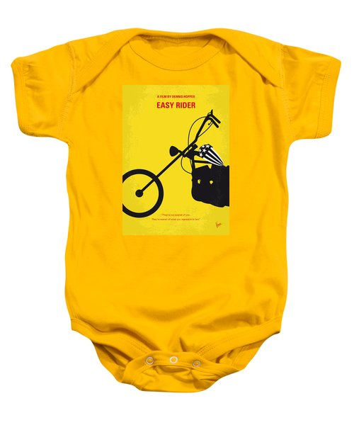 No333 My Easy Rider Minimal Movie Poster Baby Onesie by Chungkong Art