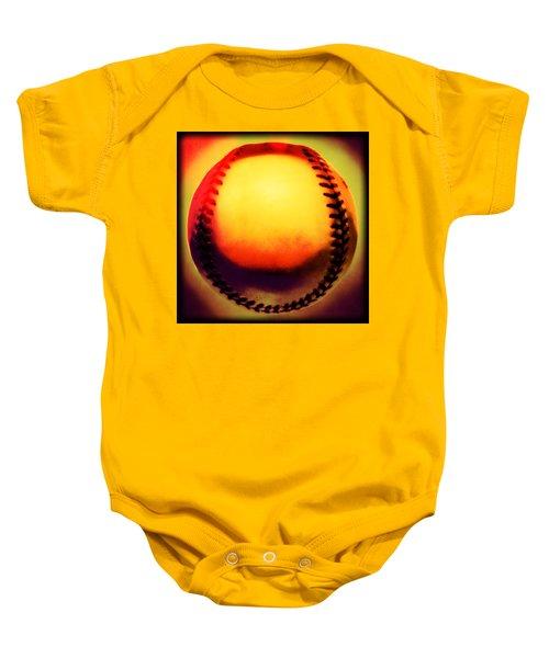 Red Hot Baseball Baby Onesie by Yo Pedro