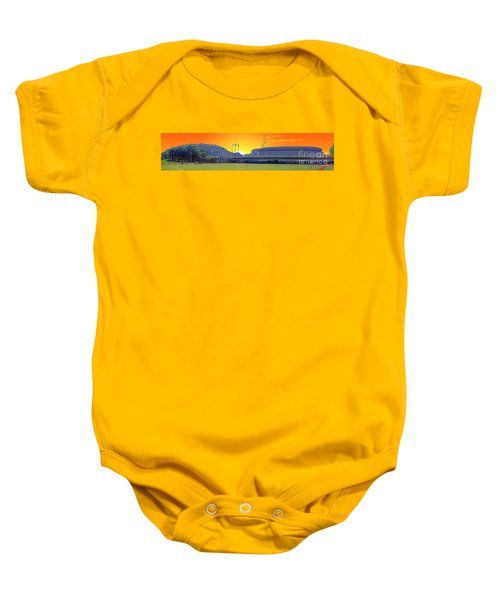 The Old And New Yankee Stadiums Side By Side At Sunset Baby Onesie by Nishanth Gopinathan