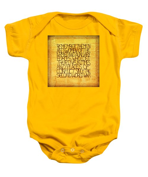 Westminster Military Memorial Baby Onesie by Stephen Stookey