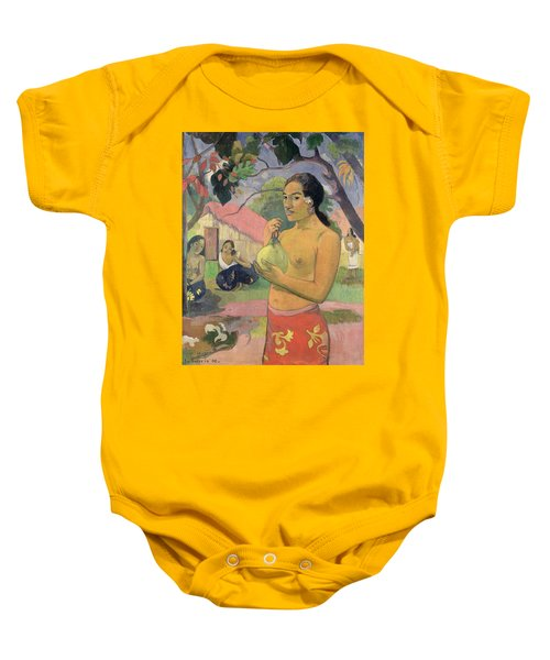 Woman With Mango Baby Onesie by Paul Gauguin