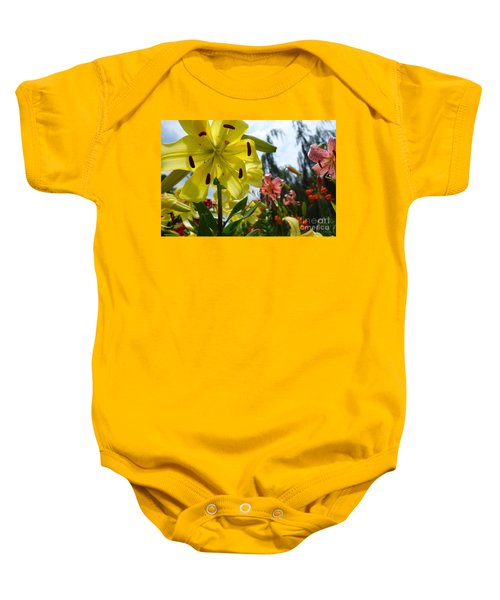 Yellow Whopper Lily 1 Baby Onesie by Jacqueline Athmann