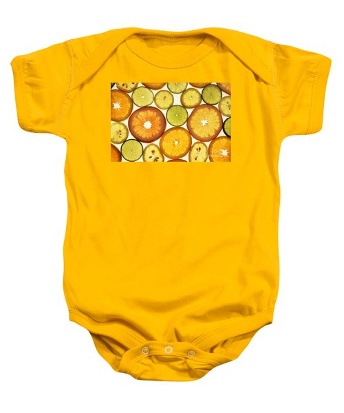 Citrus Slices Baby Onesie by Photo Researchers