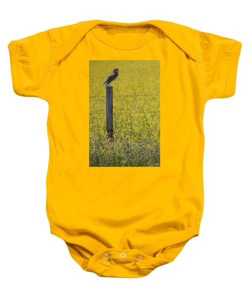 Meadowlark Singing Baby Onesie by Randall Nyhof