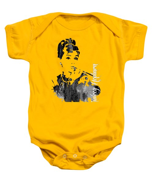 Audrey Hepburn Collection Baby Onesie by Marvin Blaine