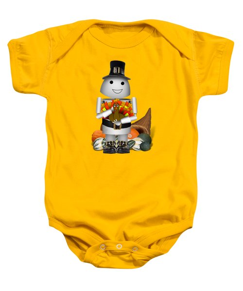 Robo-x9 The Pilgrim Baby Onesie by Gravityx9 Designs