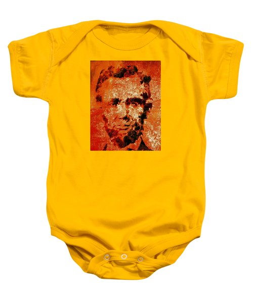 Abraham Lincoln 4d Baby Onesie by Brian Reaves