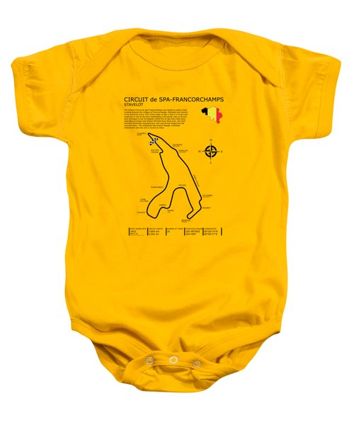 Spa Francorchamps Baby Onesie by Mark Rogan