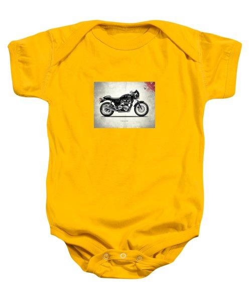 Triumph Thruxton Baby Onesie by Mark Rogan