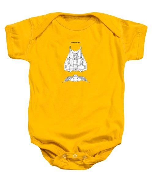 Star Wars - Snowspeeder Patent Baby Onesie by Mark Rogan