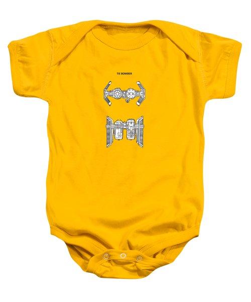 Star Wars - Spaceship Patent Baby Onesie by Mark Rogan