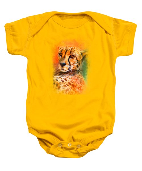 Colorful Expressions Cheetah Baby Onesie by Jai Johnson