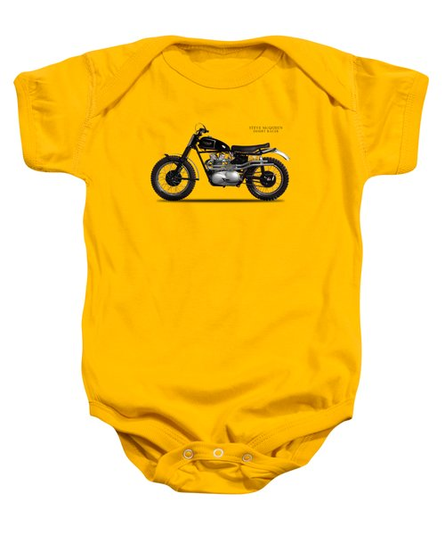 The Steve Mcqueen Desert Racer Baby Onesie by Mark Rogan