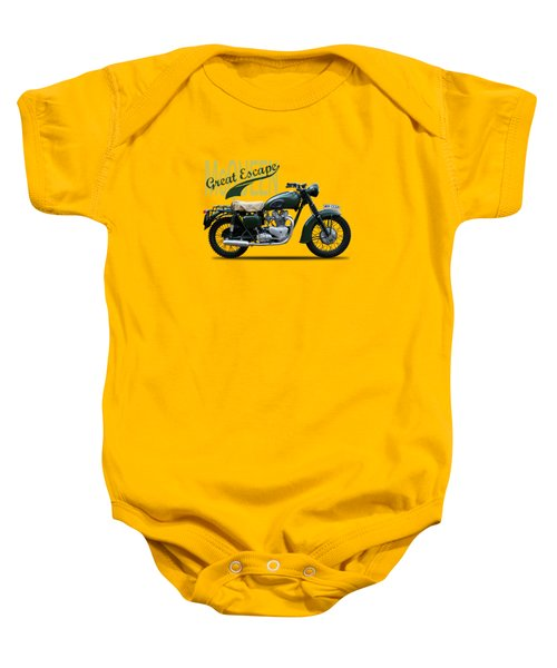 The Great Escape Motorcycle Baby Onesie by Mark Rogan
