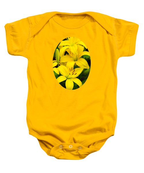 Yellow Lilies Baby Onesie by Christina Rollo